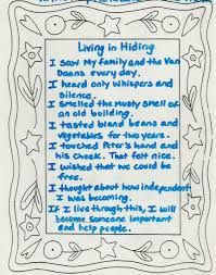 anne frank five senses poem inspirationisms and such anne frank five senses poem