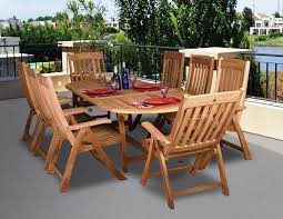 bali teak oval expandable 6ft 8ft table with adjule chairs