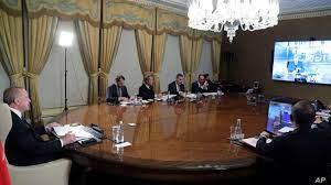 European Leaders Videoconference Over Refugee Crisis, Coronavirus