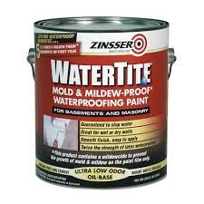 watertite mold and mildew proof white oil based waterproofing interior