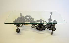 unique industrial furniture. 5th Gear Table Functional Art By Sculptor Bruce Gray Unique Industrial Furniture