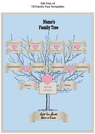 Family Tree Maker Templates 3 Generation Family Tree Generator All Templates Are Free