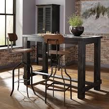 scott living black wire brush composite bar table