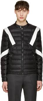 neil barrett black white apres ski jacket men neil barrett leather biker jacket classic fashion trend