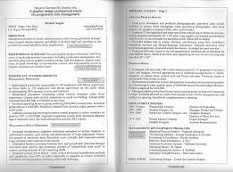 Resume Examples Nice Sample Of Two Page Resume Format Free Two Page