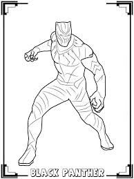 Black Panther Coloring Pages Black Panther In 2019 Avengers