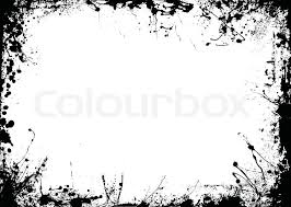 Border Black And White Black And White Ink Splat Border In Landscape Stock Vector Colourbox