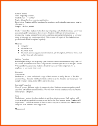 First Job Resume Program Format