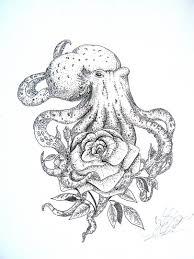 Tetování Chobotnice S Růží Tetování Tattoo