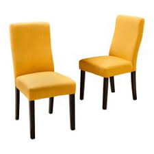 gdfstudio heath fabric dining chairs apricot set of 2 dining chairs