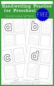 Preschool Handwriting Practice Lowercase Free Printables