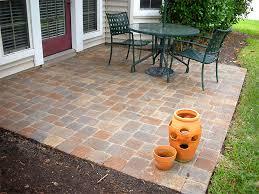 chic simple stone patio ideas stunning
