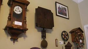 antique arts and crafts wall clock