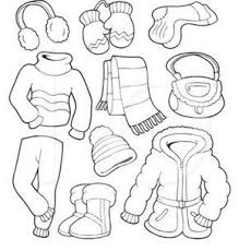 Summer coloring pages for kids: Winter Clothes Coloring Page Free For Kids Kids Winter Outfits Coloring Pages Winter Winter Crafts Preschool