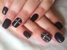 Brush up and Polish up!: CND Shellac Nail Art - Overtly Onyx Crosses