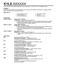 Air Force Resume Examples Security Forces Resume Air Force Resume