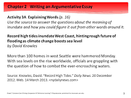 chapter writing an argumentative essay grade common core  chapter 2 writing an argumentative essay grade 7 common core writing companion © perfection learning ®