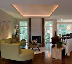 tray ceiling with rope lighting. Living Room With Fireplace And Tray Ceiling : Installing Rope Lighting In T