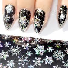Aliexpress.com : Buy Holo Silver Snowflake Nail Foil Decoration ...