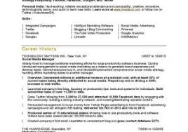 Social Media Resume Examples Sample Social Media Report With Line Homework Help Kalei Document