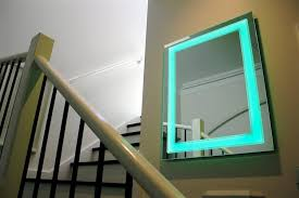 Art Deco Bathroom Lighted Mirror Vanity LED by Clearlight Designs