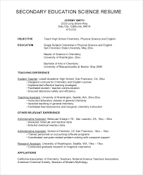 High School Science Teacher Resume