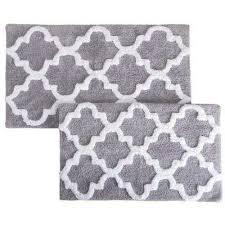 trellis silver 24 5 in x 41 in 2 piece mat set