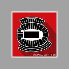 Camp Randall Student Section Seating Chart Amazon Com Artsycanvas Wisconsin Camp Randall Stadium