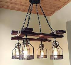 rustic ceiling light fixtures attractive wooden beam industrial chandelier cabin beams and house pertaining to 9