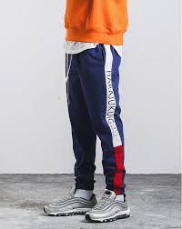 Hedonistk <b>2018 New Autumn</b> Mens Sweatswear Pants Printing Side ...