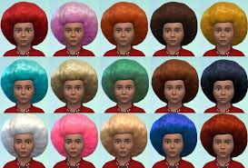 Mod The Sims: Big Afro For Small People - Children's Conversion by  Esmeralda ~ Sims 4 Hairs