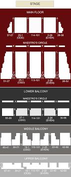 Tralf Music Hall Seating Chart Kleinhans Music Hall Buffalo Ny Seating Chart Stage
