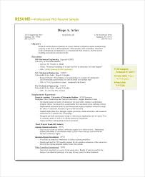 Professional Resume Objective 18 Sample Resume Objectives Pdf Doc Free Premium