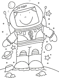 Space Coloring Pages For Kids With Rocket Printable Free Impressive