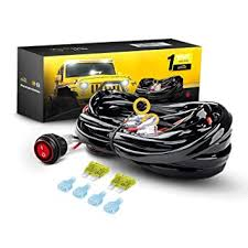 amazon com gooacc off road led light bar wiring harness kit 12v on gooacc off road led light bar wiring harness kit 12v on off waterproof switch for vehicle