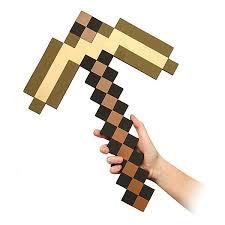 <b>Пиксельная кирка</b>, золотая, 45 см, Minecraft CL000020735514 ...