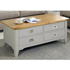 painted light grey 4 drawer coffee table swift bordeaux