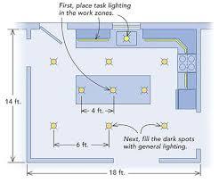 kitchen lighting layout. Modern Kitchen Lighting Layout E
