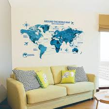 waterproof 3d world map wall stickers science rooms decals home decor creative wall art bedroom home decorations wall decals in wall stickers from home  on creative images wall art with waterproof 3d world map wall stickers science rooms decals home