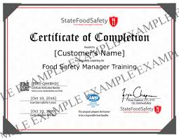 Food Safety Course Answers Food Safety Manager Certification Statefoodsafety