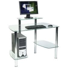 computer office table. Glacier Glass Workstation Computer Office Table