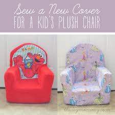 sew a new cover for a plush kid s chair by the diy mommy