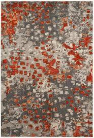 orange and gray rugs incredible area rug