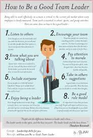 Qualities Of A Good Team Leader Team Leader