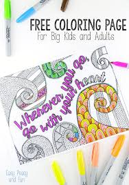 Free Coloring Page for Adults - Easy Peasy and Fun