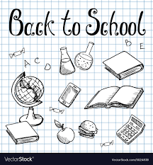 Back To School School Subjects On The Graph Paper