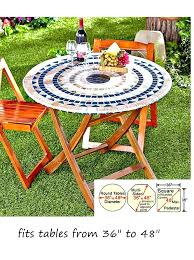 36 inch patio table round patio table mosaic tile elastic fitted vinyl outdoor round patio table