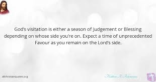 Christian Judgement Quotes Best Of Matthew A Ashimolowo Quote About Blessing Depend Expectation