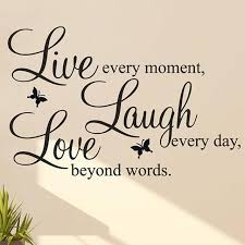 Live Laugh Love Quotes Delectable Quote Wall Sticker LIVE LAUGH LOVE Quote Vinyl Decal Motivational