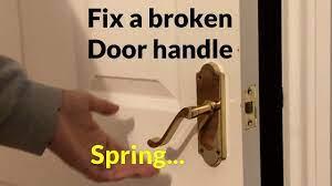 how to fix a loose door handle